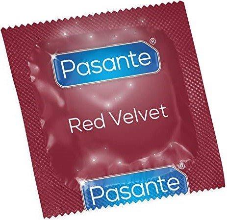 Pasante Red Velvet Rode Condooms 144 stuks (grootverpakking)