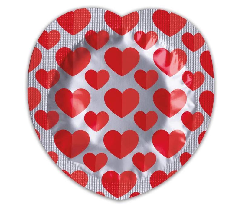 Heart condoom