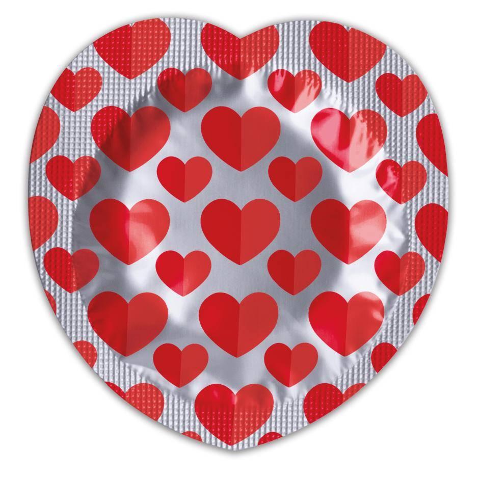 Pasante Heart Condoom 144 condooms grootverpakking