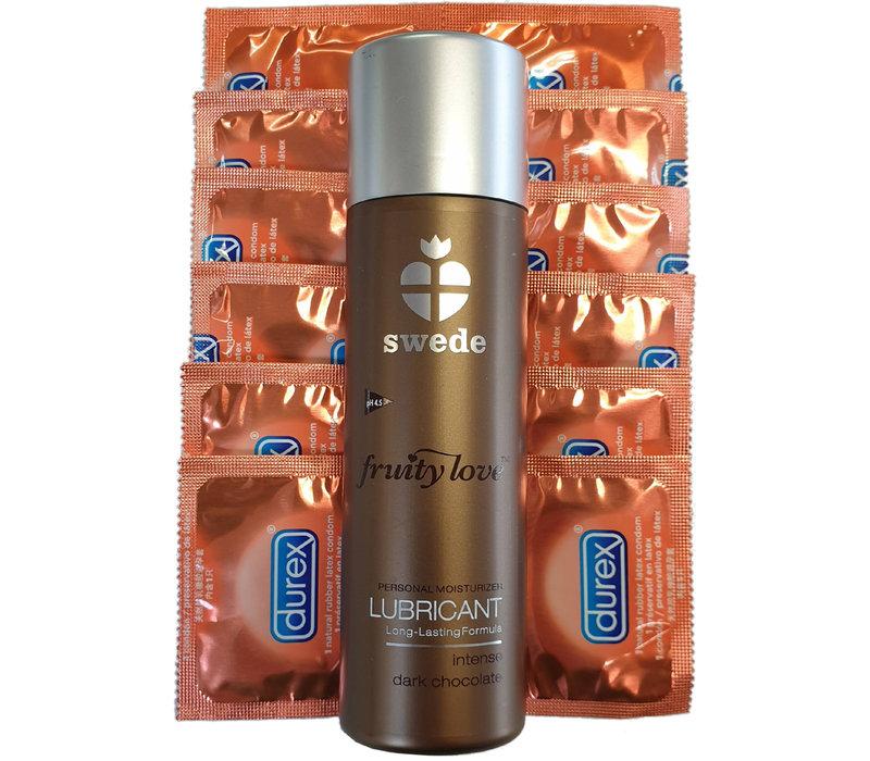 Aanbieding: Durex Taste Me sinaasappel condooms + Swede Intense Dark Chocolate glijmiddel