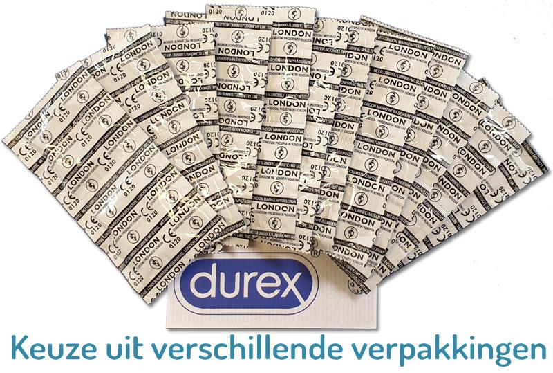 Durex London Condooms Met Glijmiddel 10 stuks