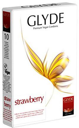 Glyde Strawberry - Rode Condooms Met Aardbeismaak