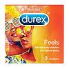 Durex Feels - 3 dunne condooms met extra glijmiddel