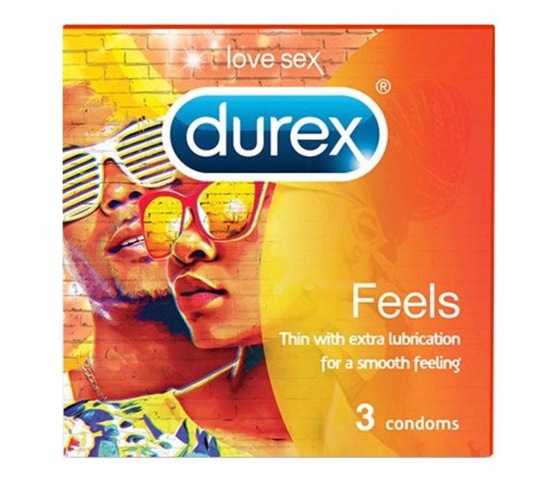 Feels - 3 dunne condooms met extra glijmiddel