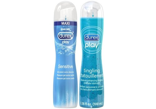 Durex Play 2 x 100ml bundel: Sensitive en Tingle