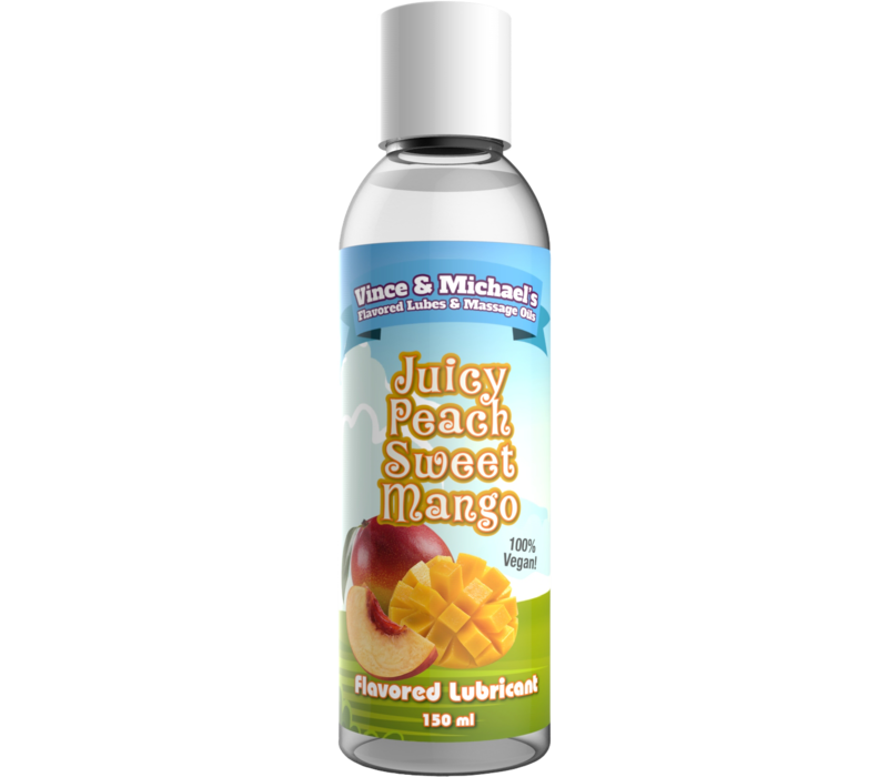 Vince & Michaels's Juicy Peach Sweet Mango flavored lubricant (150ml)