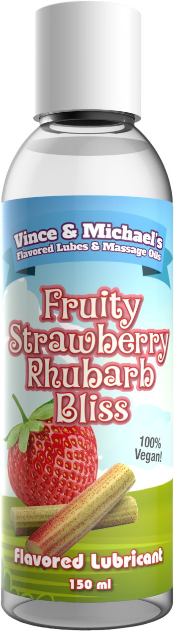 Swede Vince & Michaels's Fruity Strawberry Rhubarb Bliss Flavored Lubricant (150ml)