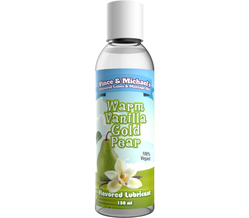Vince & Michael's Warm Vanilla Gold Pear flavored lubricant (150ml)