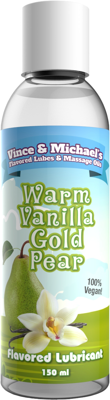 Swede Vince & Michael's Warm Vanilla Gold Pear Flavored Lubricant (150ml)