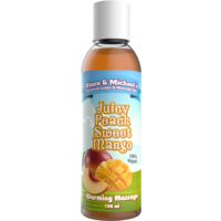 Vince & Michael's Juicy Peach Sweet Mango flavored warming massage lotion - 150 ml