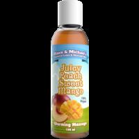 Vince & Michael's Juicy Peach Sweet Mango flavored warming massage lotion - 150 ml