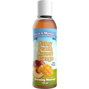 Swede Vince & Michael's Juicy Peach Sweet Mango flavored warming massage lotion - 150 ml