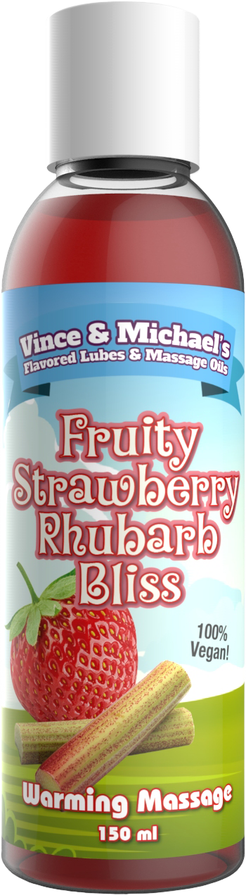 Swede Vince & Michael's Fruity Strawberry Rhubarb Bliss Flavored Warming Massage Lotion (150ml)