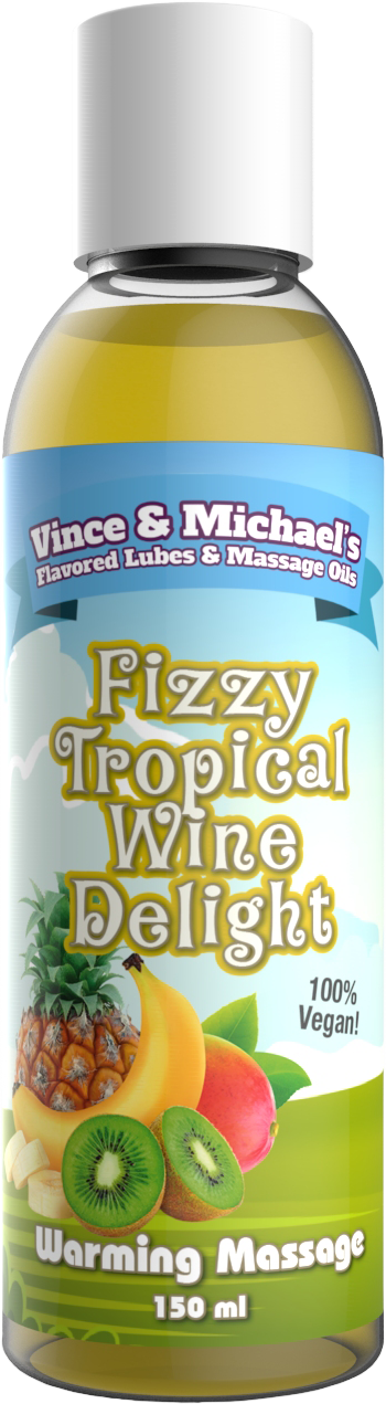 Swede Vince & Michael's Fizzy Tropical Wine Delight Flavored Warming Massage Lotion (150ml)