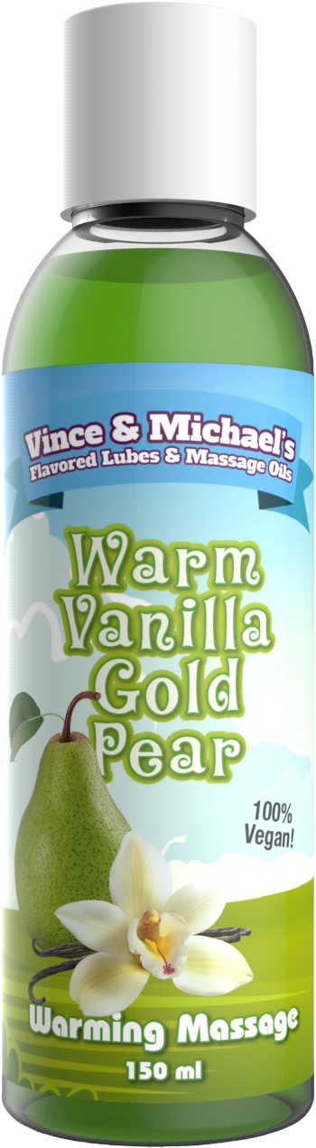 Swede Vince & Michael's Warm Vanilla Gold Pear Flavored Warming Massage Lotion (150ml)