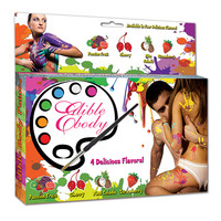 Eetbare Body Paint in 4 kleuren/smaken (4x30g)