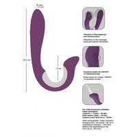 Javida Vibrator met clitorisstimulator