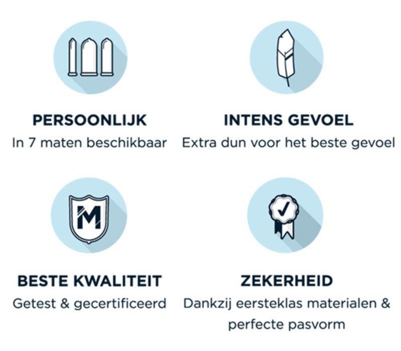 60 - ruimere XL condooms ultradun
