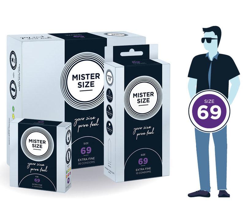69mm - ruimere XXXL condooms ultradun