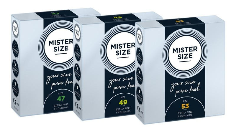 Mister Size PasPakket Ultradun 47-49-53mm (omtrek tot 11,5 cm)