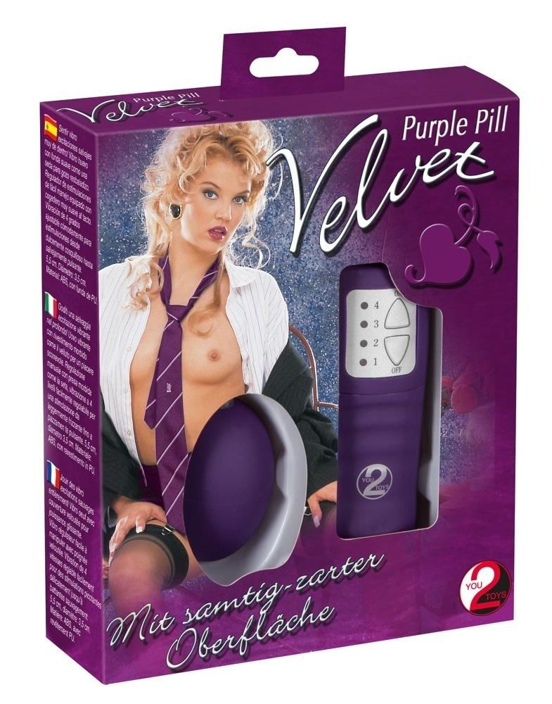 You2Toys Velvet Purple Pill - Vibrerend Ei Met Afstandsbediening