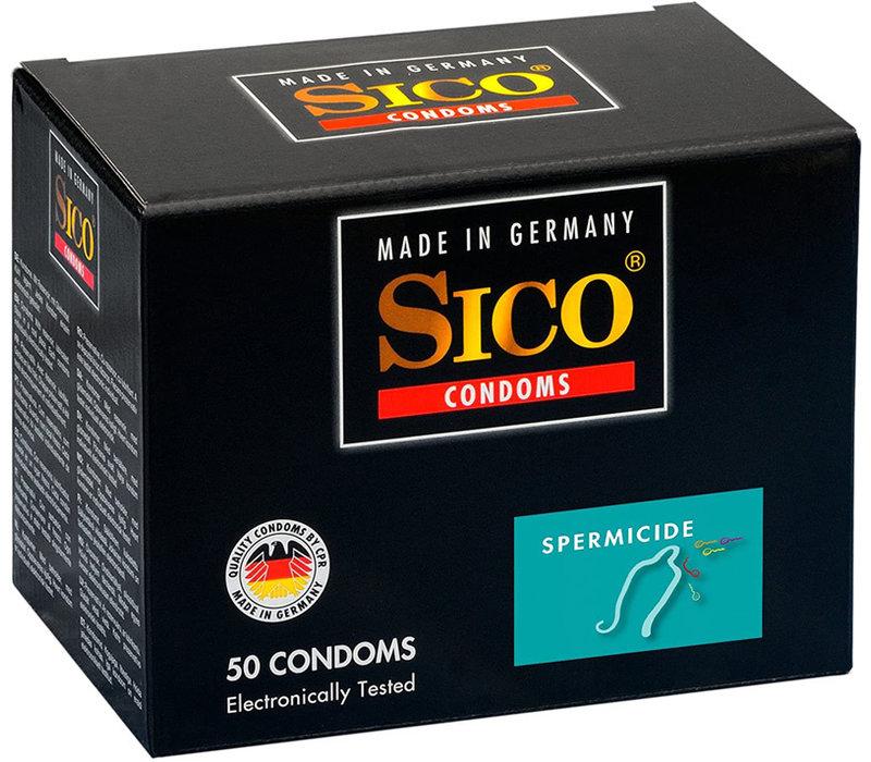 Spermicide condooms - zaaddodend glijmiddel 50 stuks