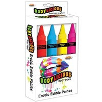 Bodylicious Body Paint Pens - eetbare verf (4x70g)