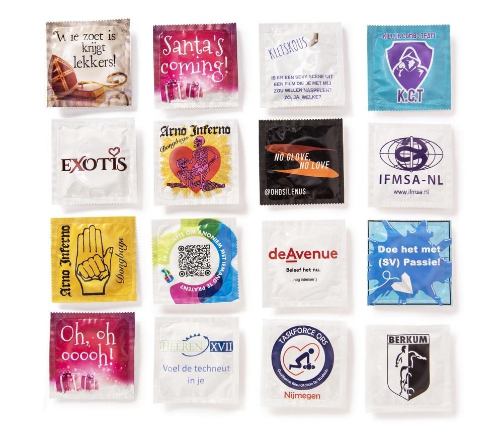 bedrukte condooms