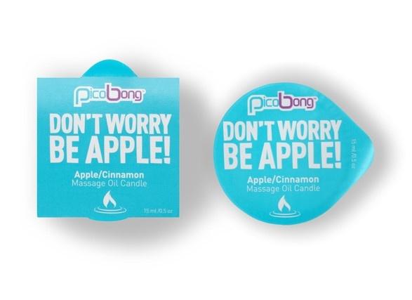 PicoBong Massage Olie Kaars appel & kaneel