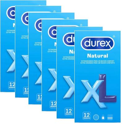 Durex Natural XL 60mm Bredere Condooms - 12 Stuks 72 stuks (grootverpakking)
