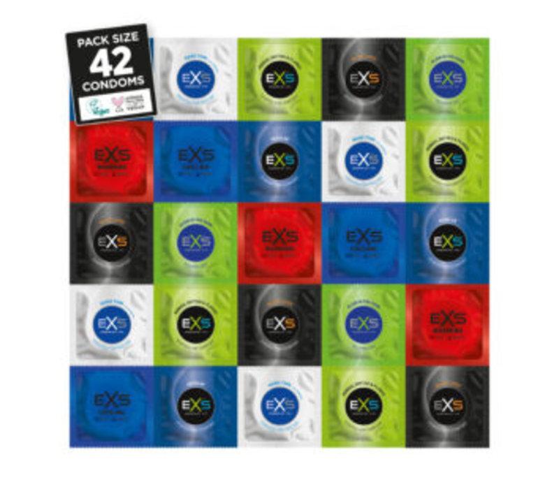 Variety Pack 2 - assortimentsverpakking met 42 condooms in 7 varianten