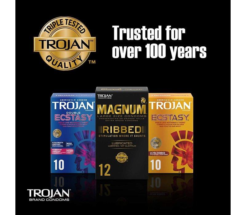 Magnum Ribbed - 12 ruimere condooms met ribbels