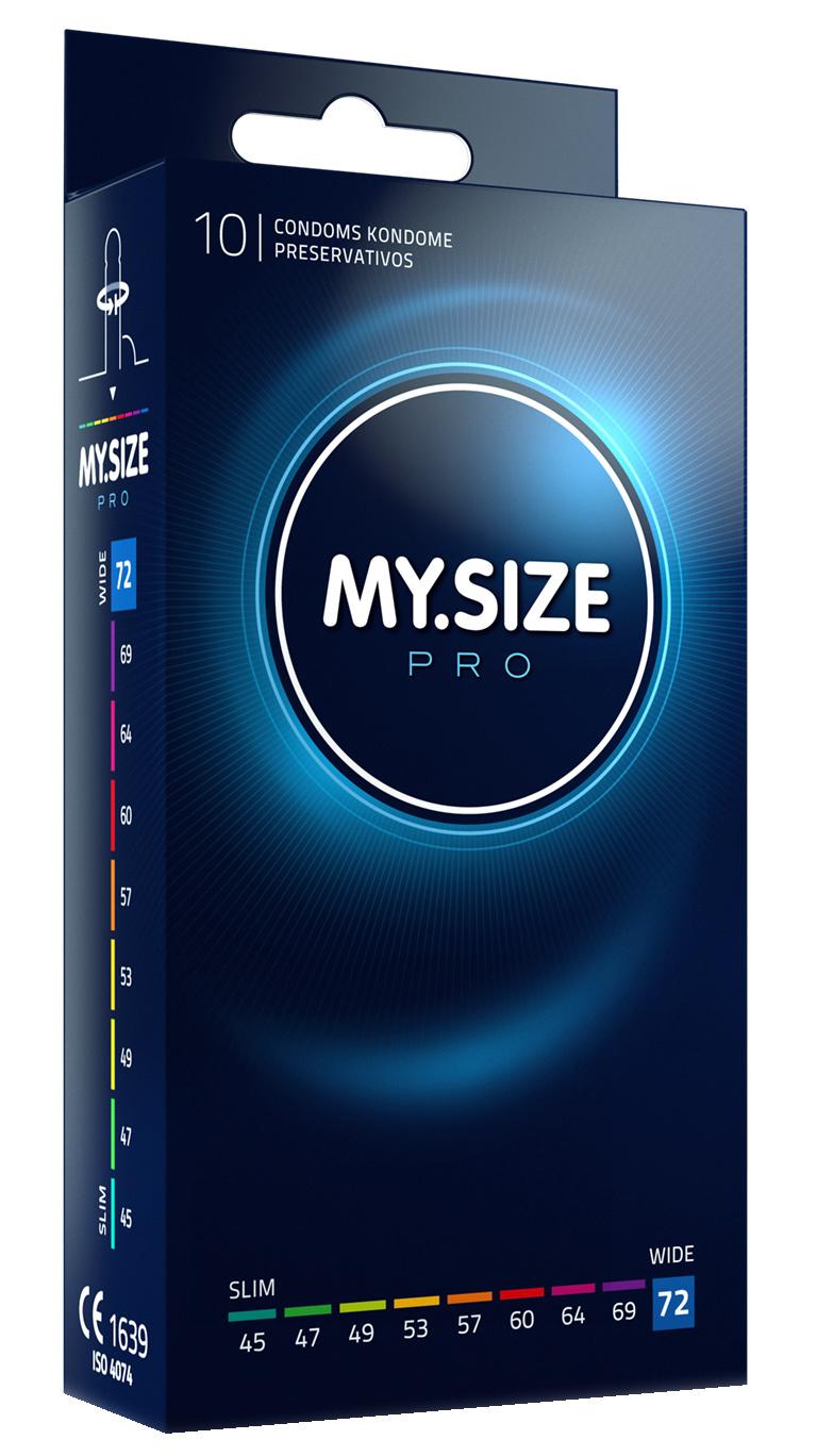 MySize 72mm - Ruimere XXXXL Condooms 10 stuks