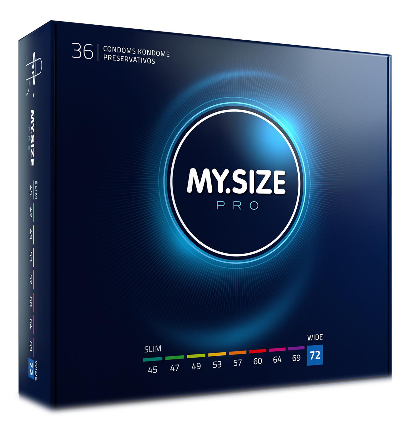 MySize 72mm - Ruimere XXXXL Condooms 36 stuks
