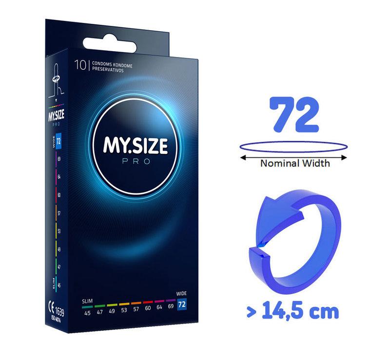 72mm - ruimere XXXXL condooms