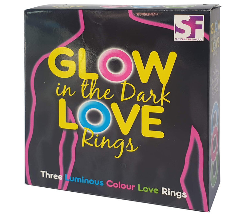 Glow in the dark love rings - 3 lichtgevende penisringen