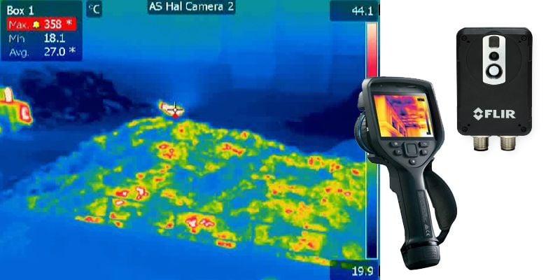 Brand- en broeidetectie met een warmtebeeldcamera