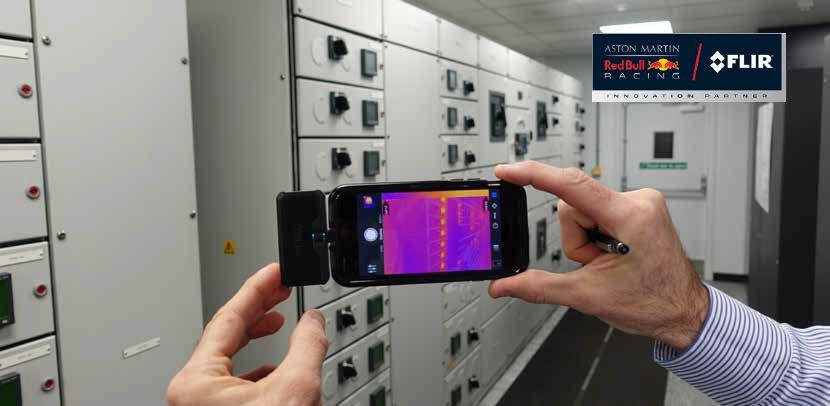 Red Bull Racing gebruikt  houdt zijn datacenter in topconditie met behulp van warmtebeeldtechnologie