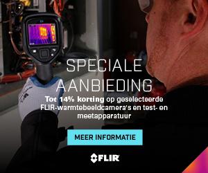 FLIR ACTIE, bespaar tot € 255,- bij aanschaf van een van de geselecteerde warmtebeeldcamera's