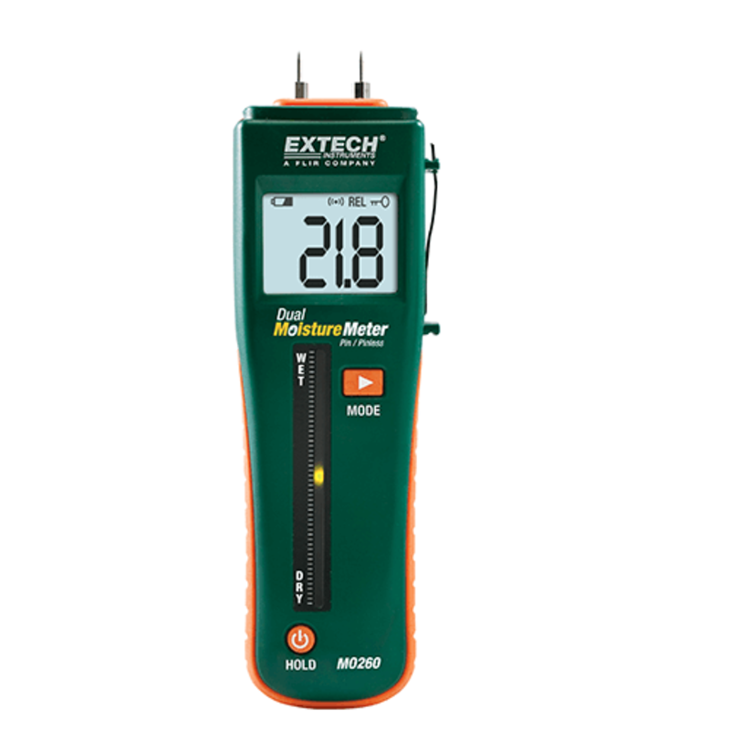 EXTECH EXTECH MO260 Combinatie pin/pinloze vochtmeter
