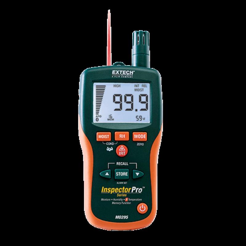 EXTECH EXTECH MO295 Pinless Moisture Psychrometer + IR Thermometer
