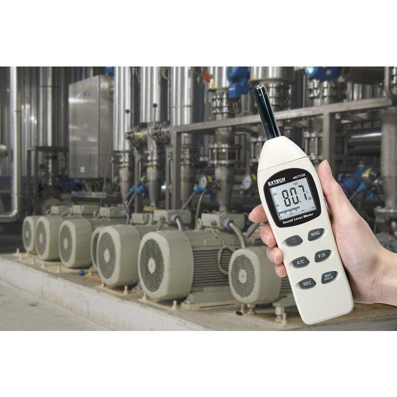 EXTECH 407730: Digitale Geluid Niveau Meter