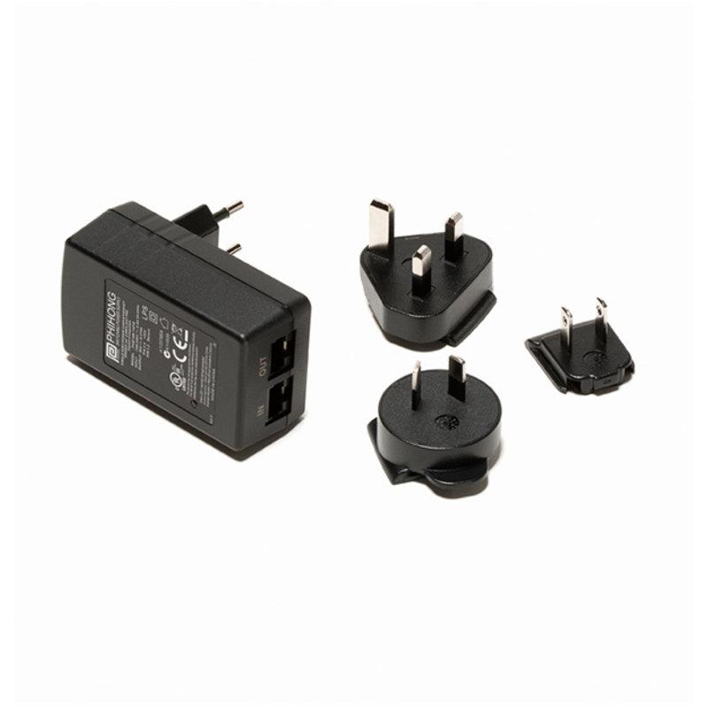FLIR Gigabit PoE injector 16 W, with multi-plugs for Ax8