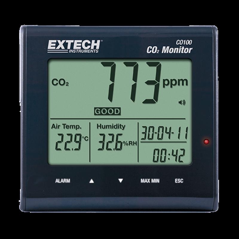 EXTECH CO100: Kooldioxide (CO2) Binnenshuis kwaliteitsmeter