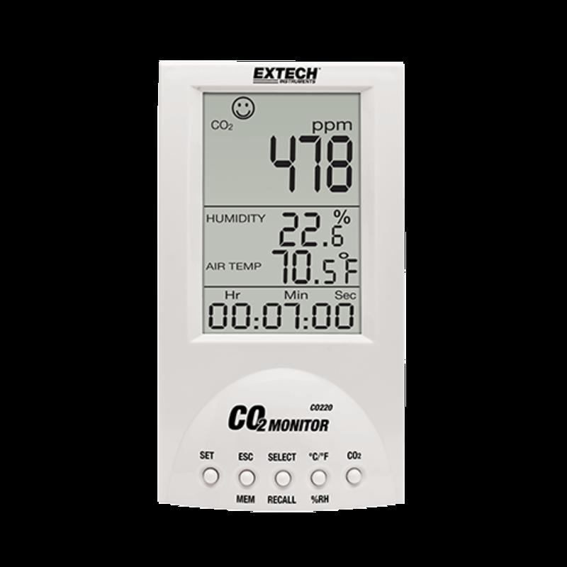EXTECH CO220: Desktop CO2 meter