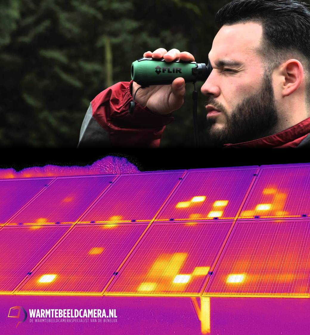 Controle van zonnepanelen met de FLIR Scout TK