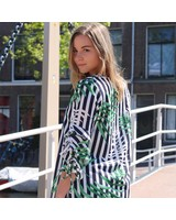 Printed Ruches Dress
