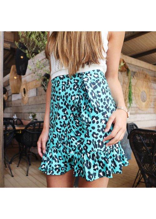 Wrap Skirt Leopard