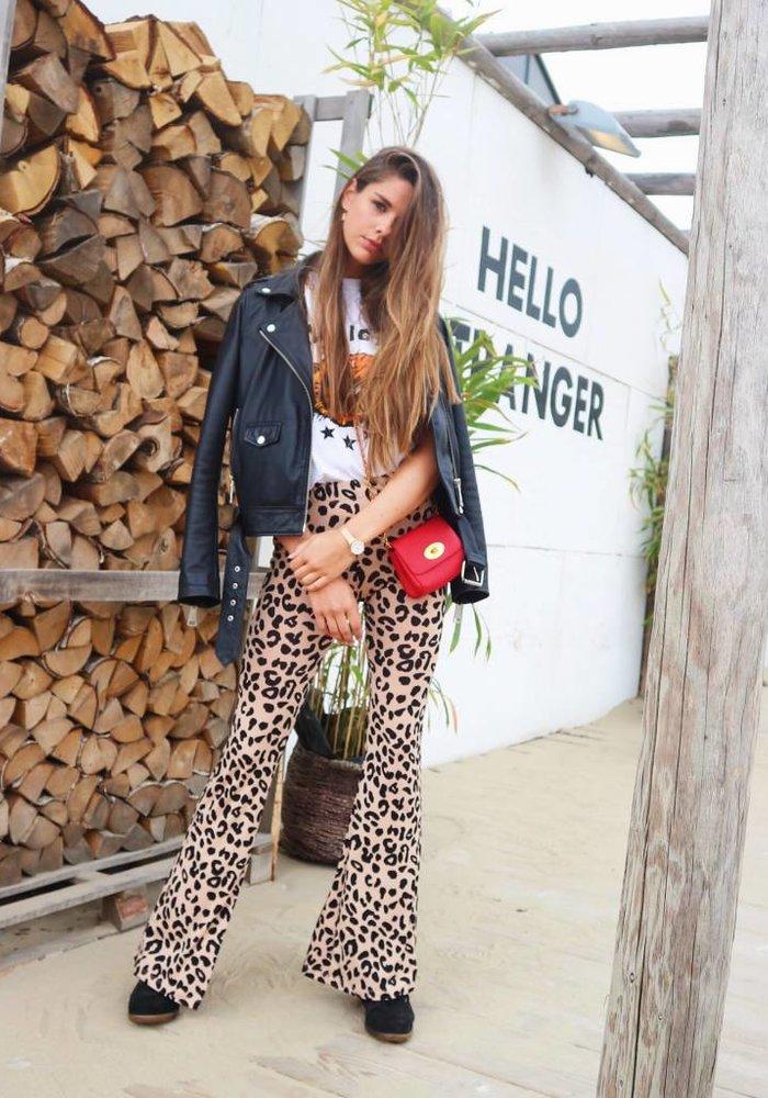 Leopard Flared Pants