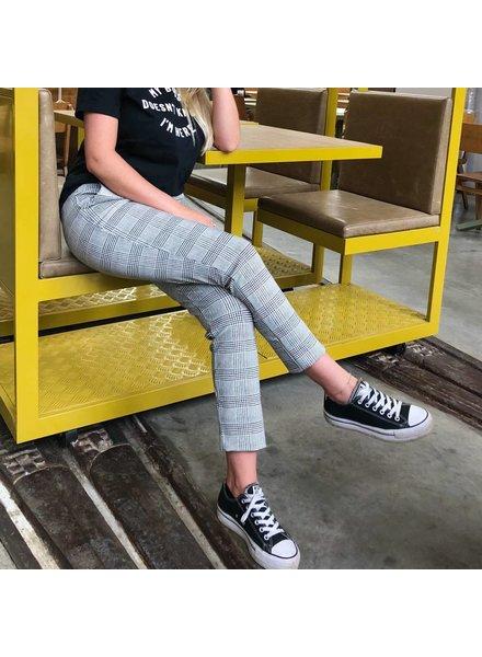 Geruite broek stretch